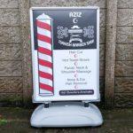 Signs-Aziz Barbers A-Board 01