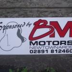 Signs-BM Motrors Golf Sign