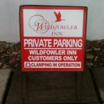 Signs-Wildfowler No Parking