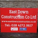 Signs-East Down Construction March 2018