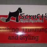 Signs-Scrufts Grooming Sign 2014