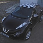Vehicle Wraps-Nissan Juke (Chequered Roof)