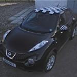 Vehicle Wraps-Nissan Juke (Chequered Roof)
